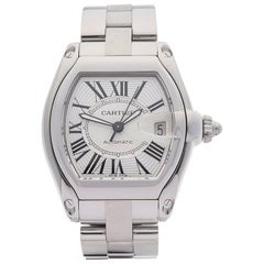 Cartier Stainless Steel Roadster Automatic Wristwatch Ref 2510, 2010s