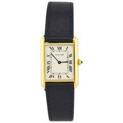 Cartier Yellow Gold Tank quartz Wristwatch