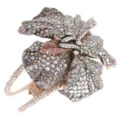 Faberge Hibiscus Cuff Bracelet