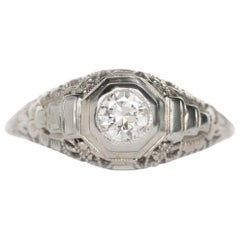 .25 Carat Diamond White Gold Engagement Ring