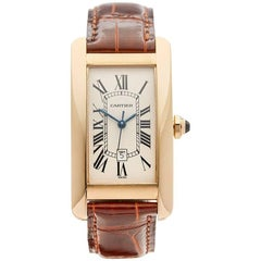 Cartier Ladies yellow gold Tank Americaine 1725 Automatic wristwatch Ref W4098