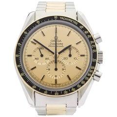Omega Yellow Gold Stainless Steel Speedmaster Mechanical Wristwatch, 2000s