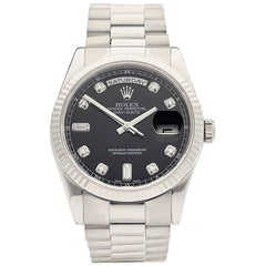 Rolex White Gold Day Date Automatic Wristwatch Ref 118239, 2007