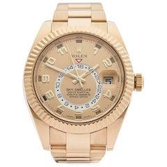 Rolex Yellow Gold Skydweller Automatic Wristwatch Ref 326938, 2015