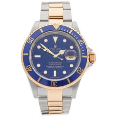 Rolex Yellow Gold Stainless Steel Submariner Automatic Wristwatch, 2005
