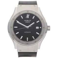 Hublot Stainless Steel Classic Fusion Automatic Wristwatch, 2010s