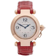 Cartier Ladies Rose Gold Pasha de Cartier Quartz Wristwatch Ref 2812, 2010s