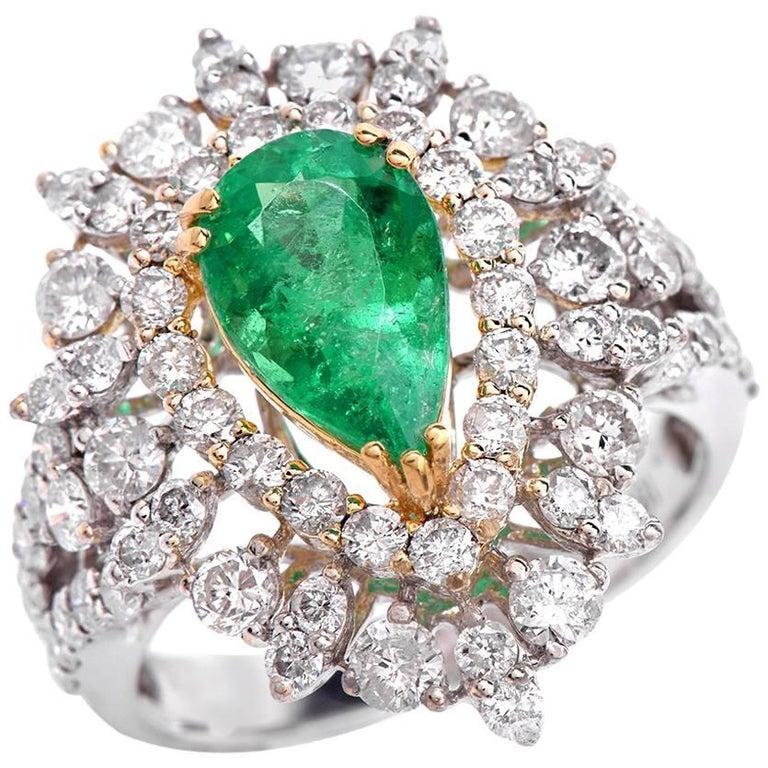 estate emerald 18 karat gold ring for sale at 1stdibs