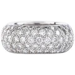 Tiffany & Co. Etoile Five-Row Pave Diamonds Eternity Ring in Platinum