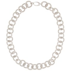 Jona Sterling Silver Link Chain Necklace