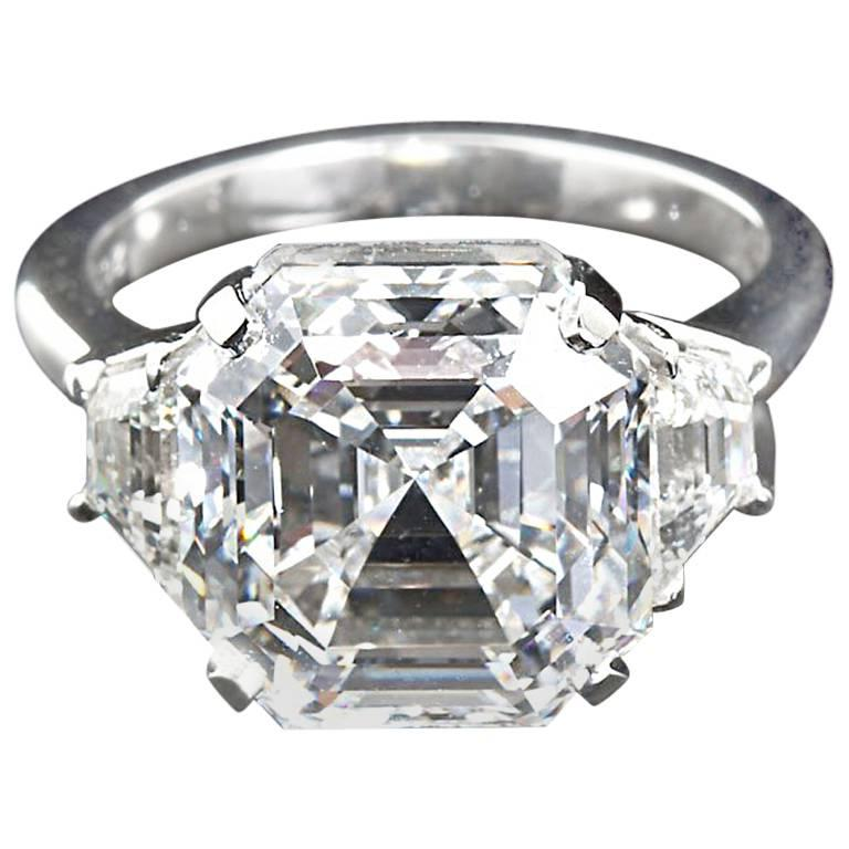 engagement ring with ascher inc gem asscher solitaire diamond platinum white brilliant classic