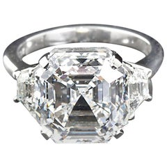 Cartier Asscher Cut Diamond Ring GIA Certified