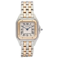 Cartier Ladies Yellow Gold Stainless Steel Panthere Quartz Wristwatch, 1990s