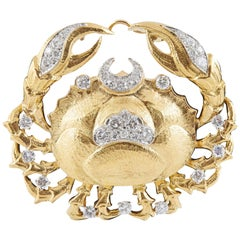 David Webb Zodiac Brooch