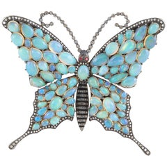Opal Butterfly Brooch
