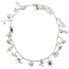 Art Deco Charm Necklace