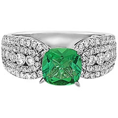 Emilio Jewelry Emerald Diamond Ring
