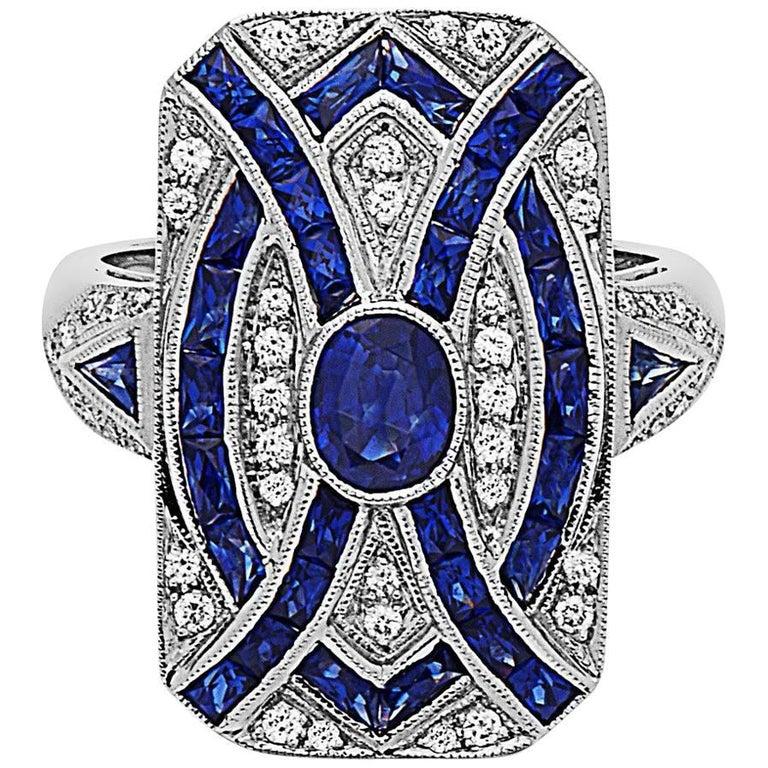 Emilio Jewelry Diamond Sapphire Ring