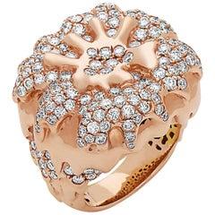 Handmade Rose Gold Diamond Ring