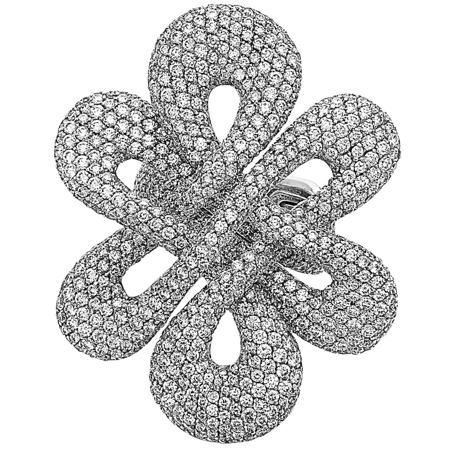 Emilio Jewelry Striking Red Carpet Pave Diamond Ring