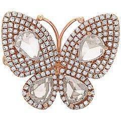 Butterfly Pear Shape Diamond Ring