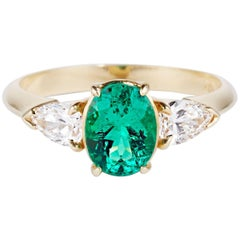 Cushla Whiting 1.1 Carat Certified Muzo Emerald 'Verde' Ring with Diamonds