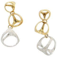 Di Modolo Triadra Three-Cage Gold Earrings with Diamond