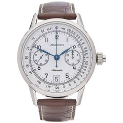 Longines Stainless Steel Heritage Automatic Wristwatch Ref L28004232, 2016