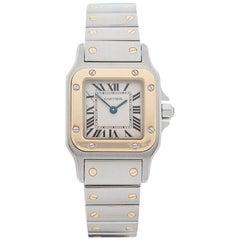 Cartier Ladies Yellow Gold Stainless Steel Santos Galbee Quartz Wristwatch