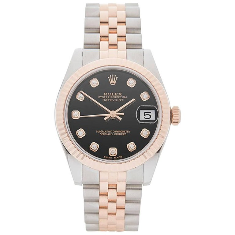 Rolex Rose Gold Stainless Steel Datejust Automatic Wristwatch Ref 178271, 2014