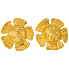 Jean Mahie Exceptional 22 Karat Gold Earrings