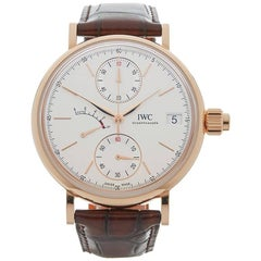 IWC Rose Gold Portofino Hand Wound Mono Pusher Mechanical Wristwatch, 2017