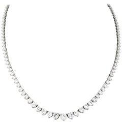 Graduated Diamond Platinum Eternity Necklace
