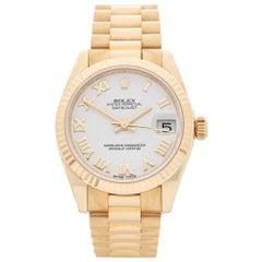 Rolex Ladies Yellow Gold Datejust Automatic Wristwatch Ref 178278, 2017