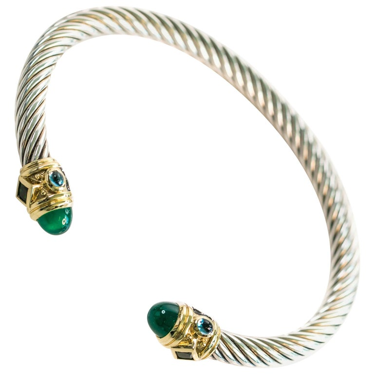 adfddaf611e9b David Yurman Renaissance Bracelet in Sterling Silver and 14K Gold