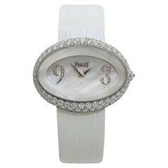 Piaget Ladies White Gold Diamond Lime Light Quartz Wristwatch Ref 10213