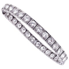 1930s Straight-Line Diamond Bracelet