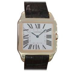 Cartier Rose Gold Santos Dumont Large Manual Wristwatch
