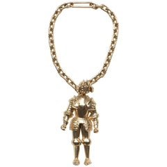 Gold Knight Keychain