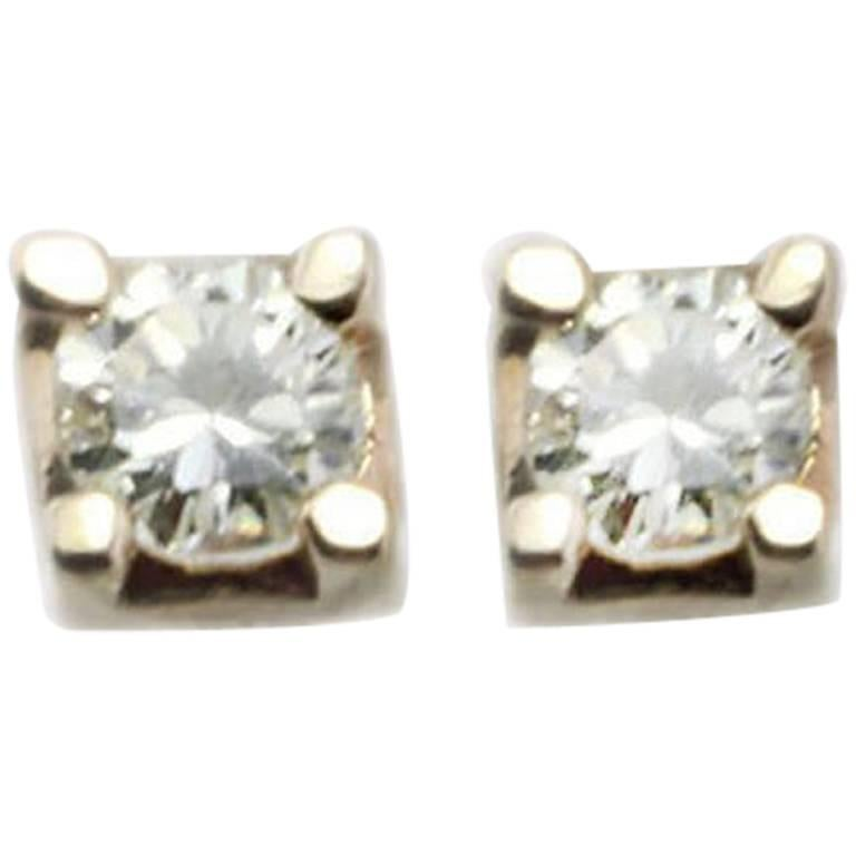 Diamonds Stud Rose Gold Earrings
