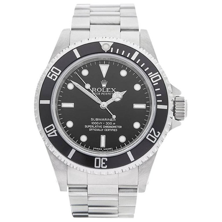 Rolex Stainless Steel Submariner Automatic Wristwatch Ref 14060M, 2012