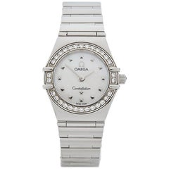 Omega Ladies Stainless Steel Constellation My Choice Quartz Wristwatch, 1998