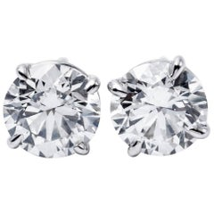 Brilliant Studs Earrings 5.06 Carat