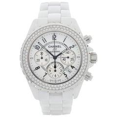 Chanel Ladies Ceramic J12 Chronograph Automatic Wristwatch Ref 1008, 2010