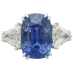 1990s 13.91 Carat Ceylon Sapphire and 1.70 Carat Diamond White Gold Dress Ring