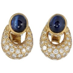 Cartier Sapphire and Diamond Earrings