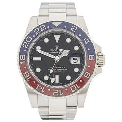 Rolex White Gold GMT Master II Pepsi Automatic wristwatch Ref W4193