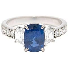 Sapphire and Diamond Set Ring