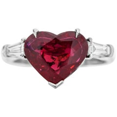 Heart Ruby Ring GRS Certified