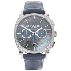 Chaumet White Gold Dandy Chronograph Automatic Wristwatch Ref W4181